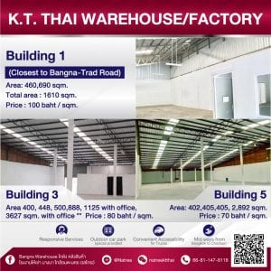 factory for rent คลังสินค้าบางนา